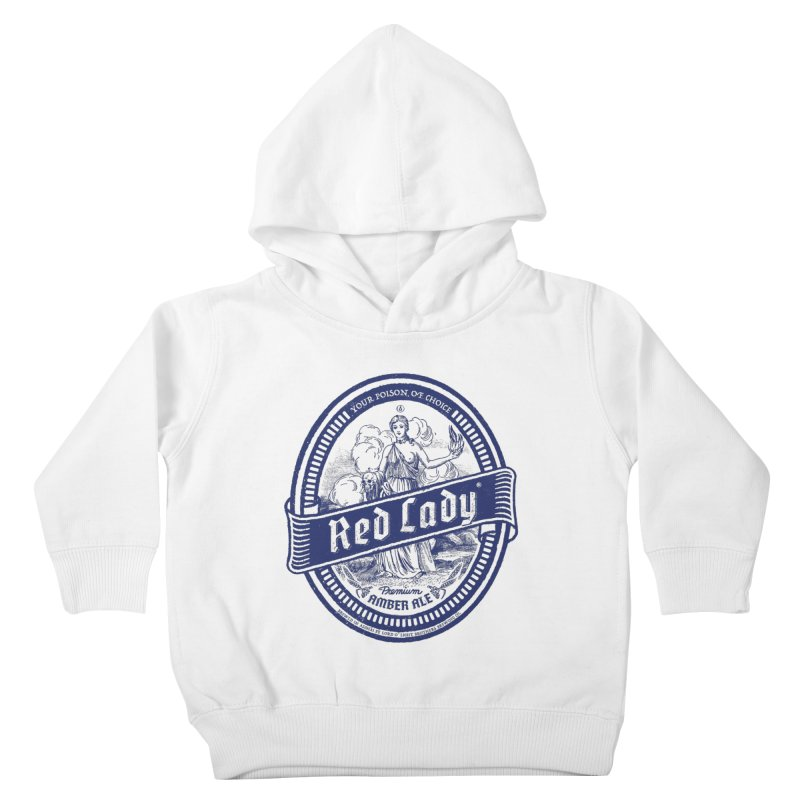Red Lady's Kids Toddler Pullover Hoody by Victor Calahan