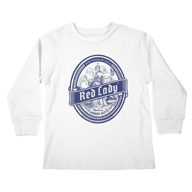 Red Lady's Kids Longsleeve T-Shirt by Victor Calahan