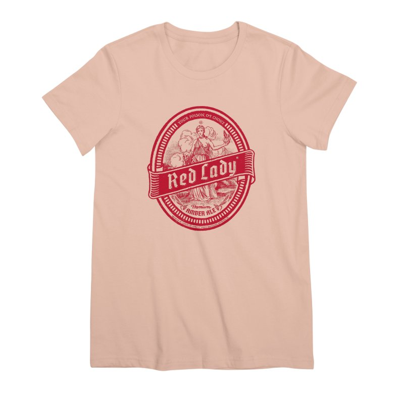 Red Lady Women's Premium T-Shirt by Victor Calahan