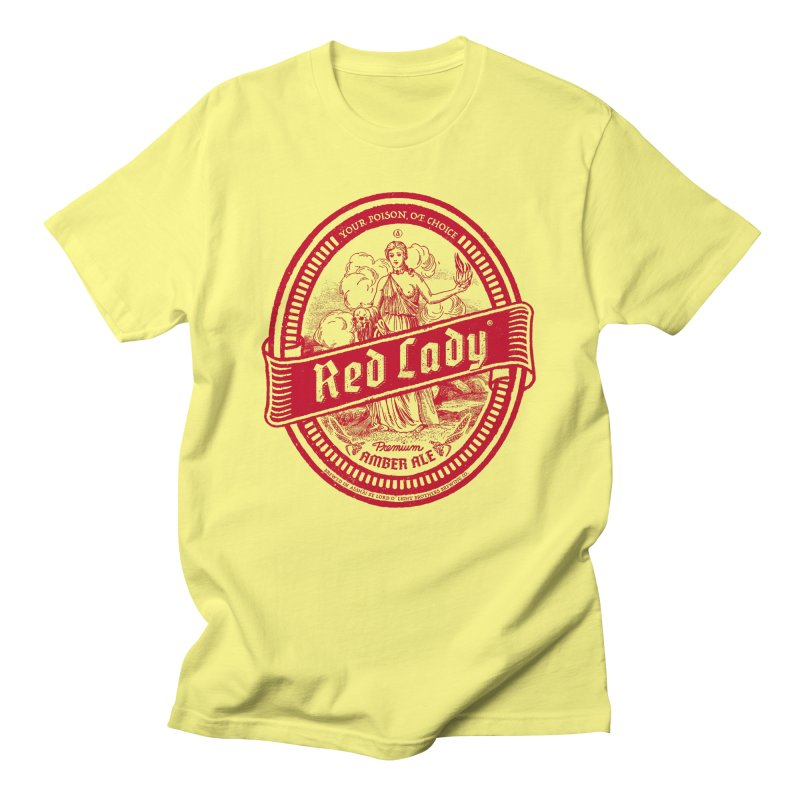 Red Lady Men's T-Shirt by Victor Calahan