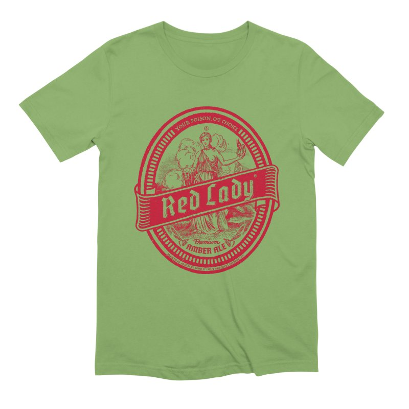 Red Lady Men's Extra Soft T-Shirt by Victor Calahan