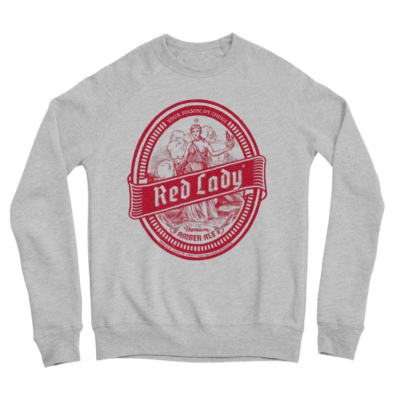 Red Lady Men's Sponge Fleece Sweatshirt by Victor Calahan