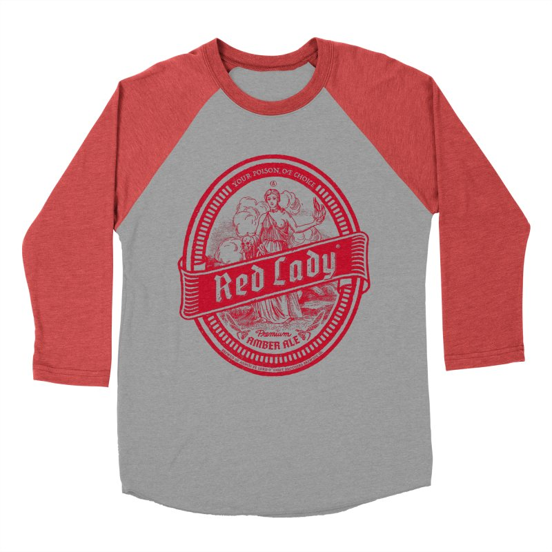 Red Lady Men's Baseball Triblend Longsleeve T-Shirt by Victor Calahan