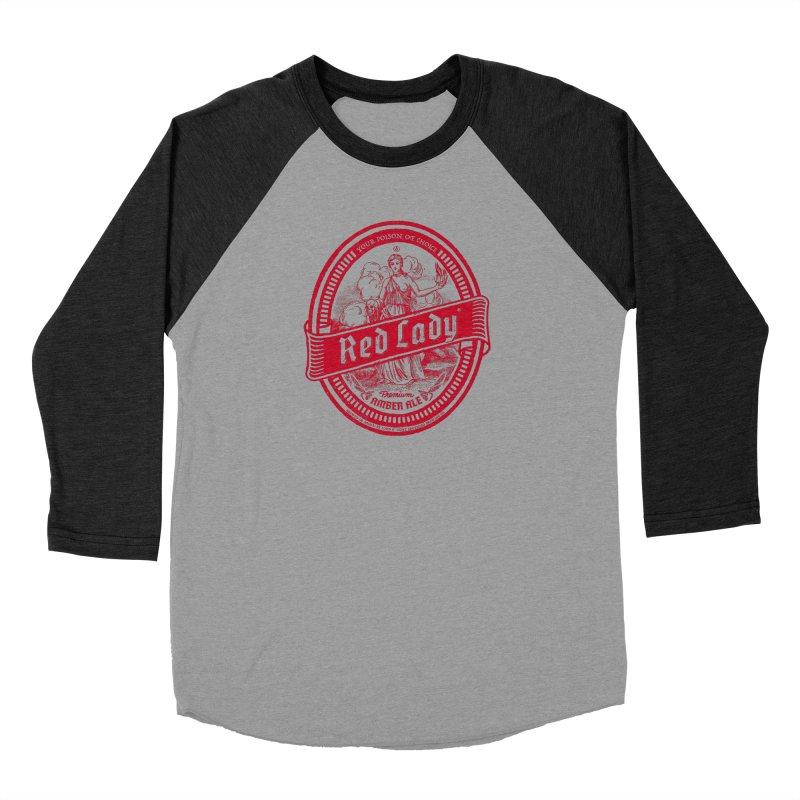 Red Lady Women's Baseball Triblend Longsleeve T-Shirt by Victor Calahan
