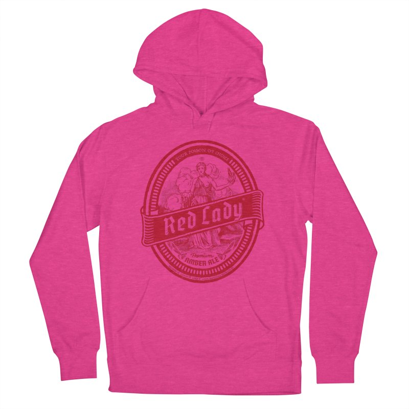 Red Lady Women's French Terry Pullover Hoody by Victor Calahan