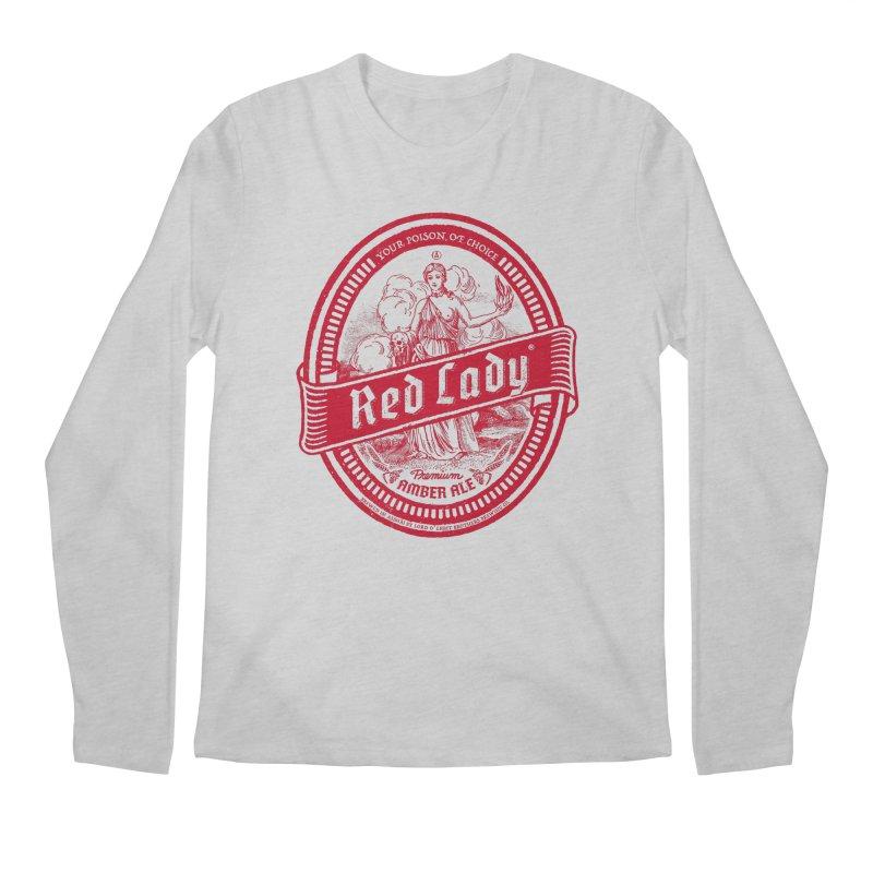 Red Lady Men's Regular Longsleeve T-Shirt by Victor Calahan