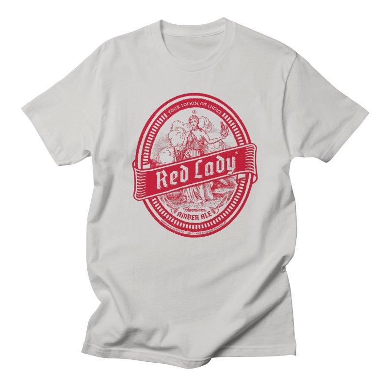 Red Lady Men's Regular T-Shirt by Victor Calahan