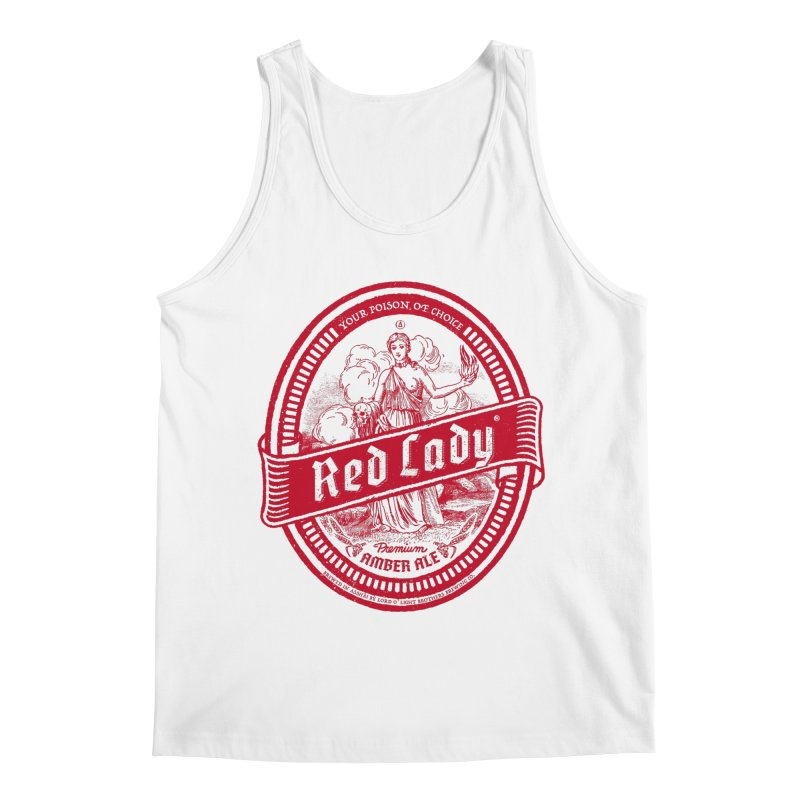 Red Lady Men's Tank by Victor Calahan
