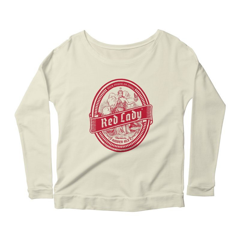 Red Lady Women's Scoop Neck Longsleeve T-Shirt by Victor Calahan