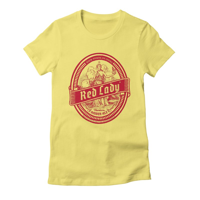 Red Lady Women's Fitted T-Shirt by Victor Calahan