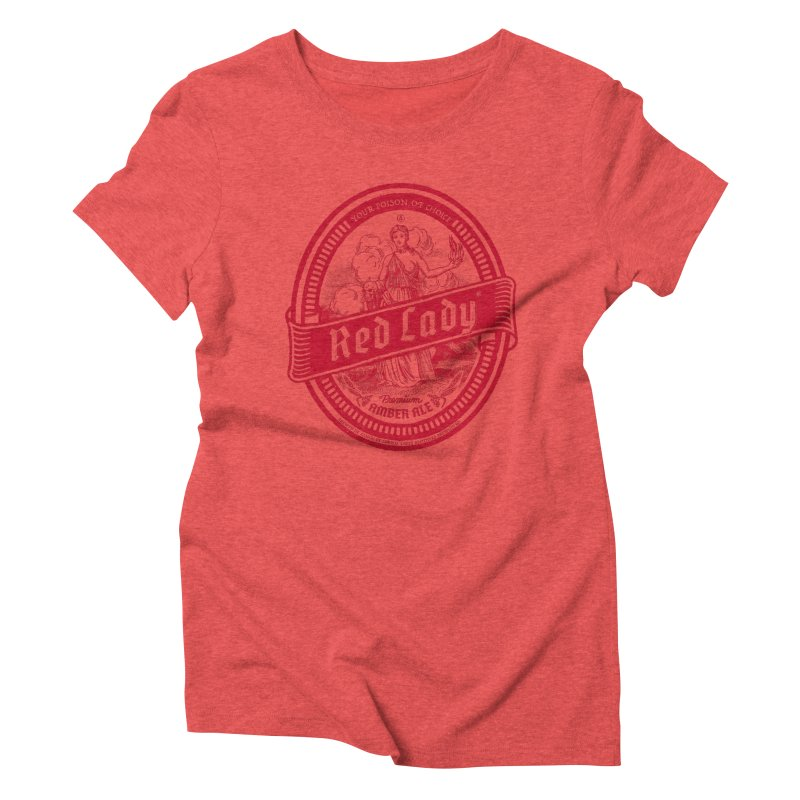 Red Lady Women's Triblend T-Shirt by Victor Calahan