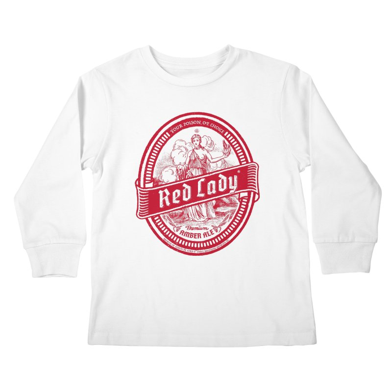 Red Lady Kids Longsleeve T-Shirt by Victor Calahan