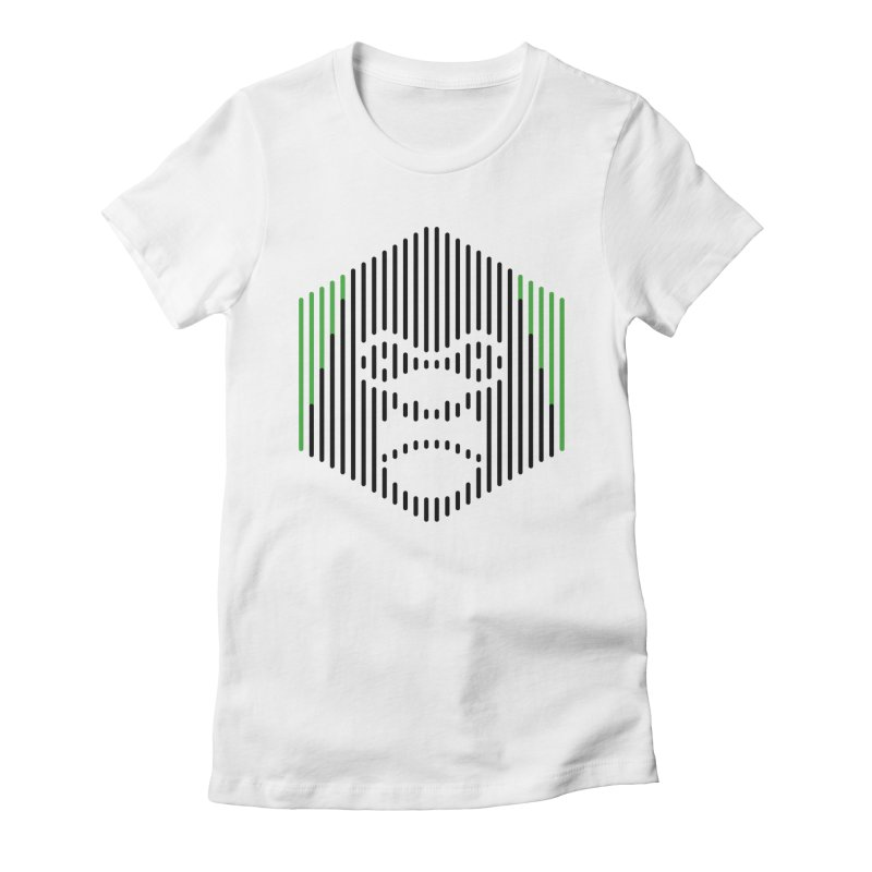 Gorilla Women's Fitted T-Shirt by Victor Calahan