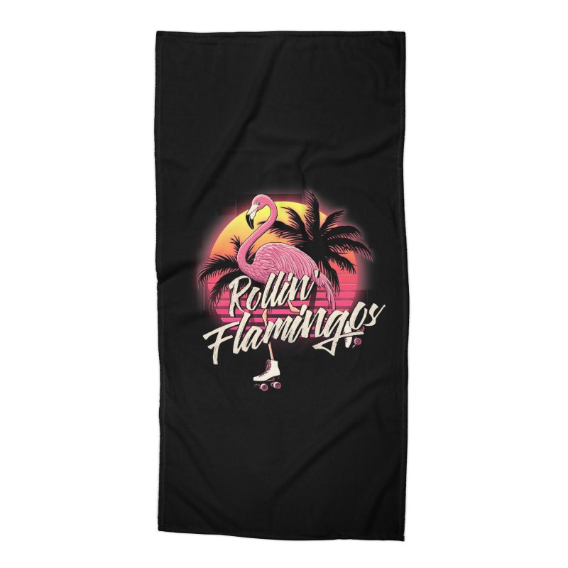 Rollin' Flamingos Accessories Beach Towel by Victor Calahan