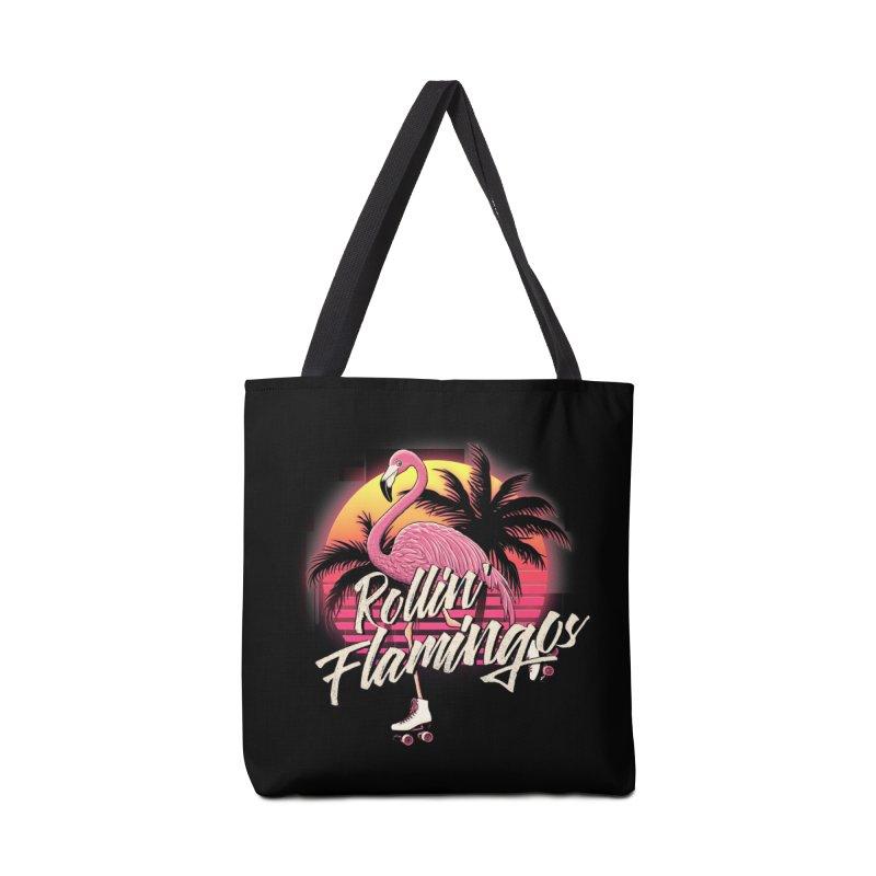 Rollin' Flamingos Accessories Bag by Victor Calahan