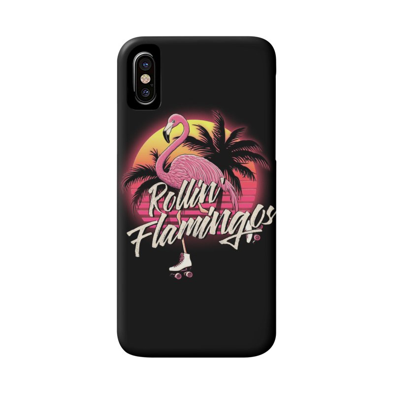 Rollin' Flamingos Accessories Phone Case by Victor Calahan