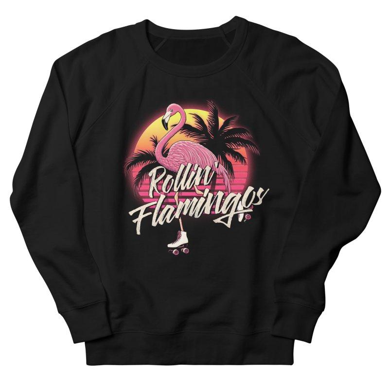 Rollin' Flamingos Men's Sweatshirt by Victor Calahan