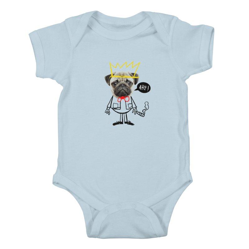 Arf! Kids Baby Bodysuit by Victor Calahan