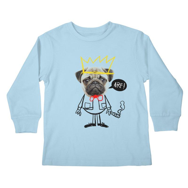 Arf! Kids Longsleeve T-Shirt by Victor Calahan