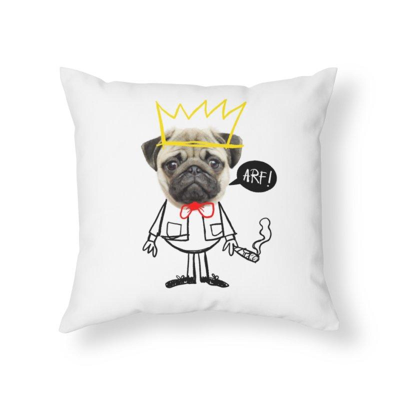 Arf! Home Throw Pillow by Victor Calahan