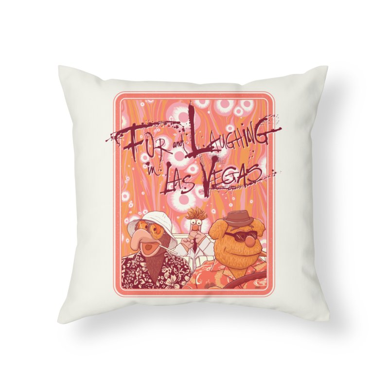 Fur And Laughing in Las Vegas Home Throw Pillow by Victor Calahan