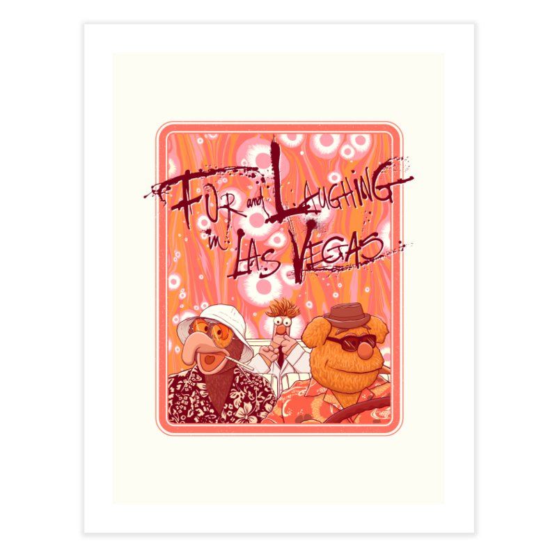 Fur And Laughing in Las Vegas Home Fine Art Print by Victor Calahan