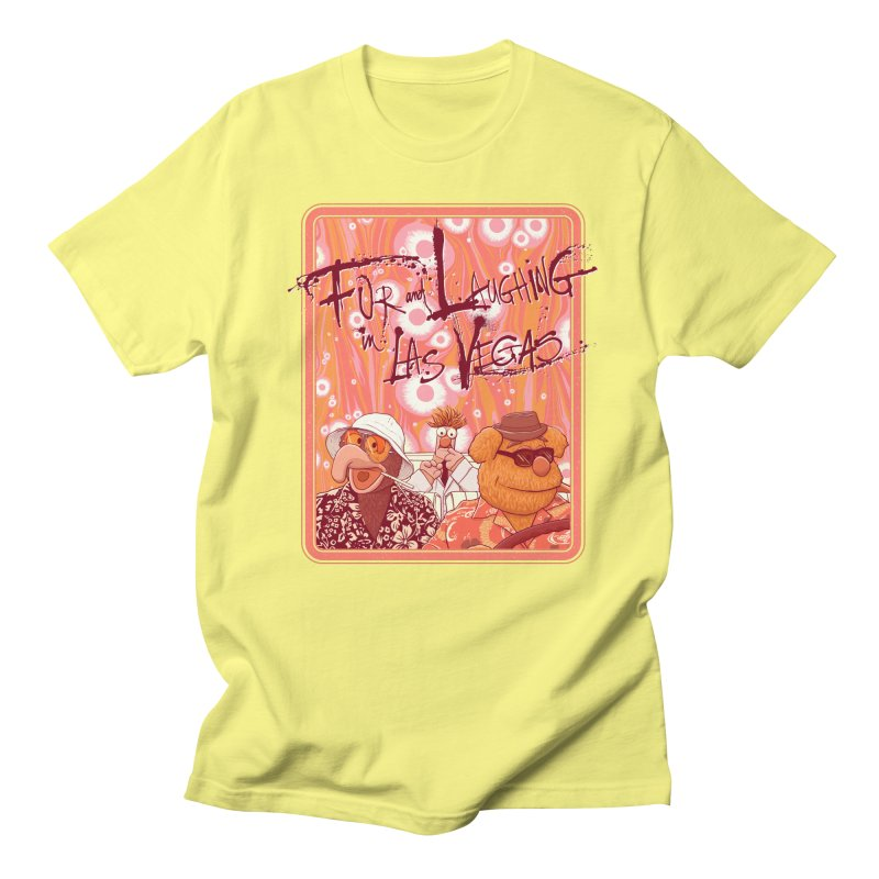 Fur And Laughing in Las Vegas Men's T-Shirt by Victor Calahan