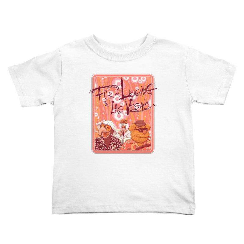 Fur And Laughing in Las Vegas Kids Toddler T-Shirt by Victor Calahan
