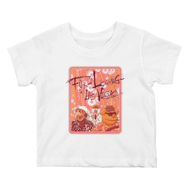 Fur And Laughing in Las Vegas Kids Baby T-Shirt by Victor Calahan
