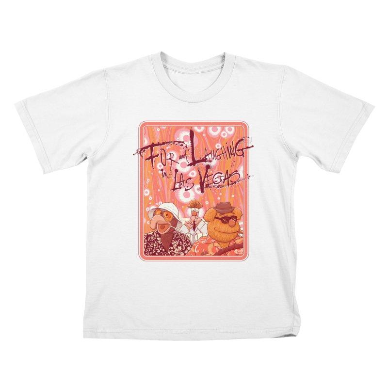 Fur And Laughing in Las Vegas Kids T-Shirt by Victor Calahan