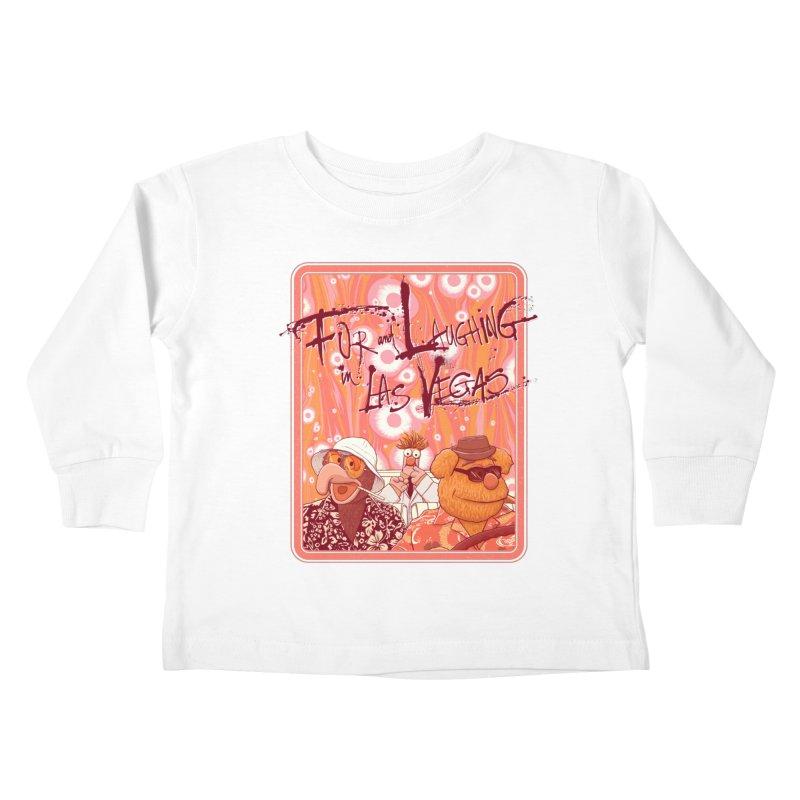 Fur And Laughing in Las Vegas Kids Toddler Longsleeve T-Shirt by Victor Calahan