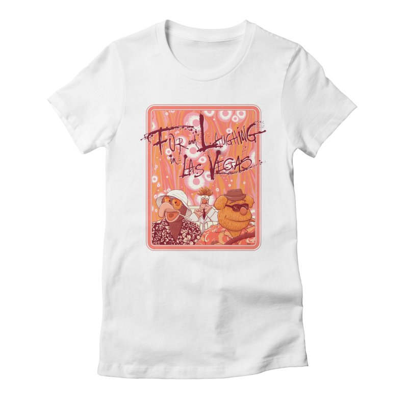 Fur And Laughing in Las Vegas Women's Fitted T-Shirt by Victor Calahan