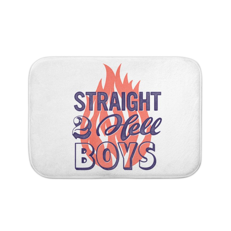 Straight to Hell Home Bath Mat by Victor Calahan