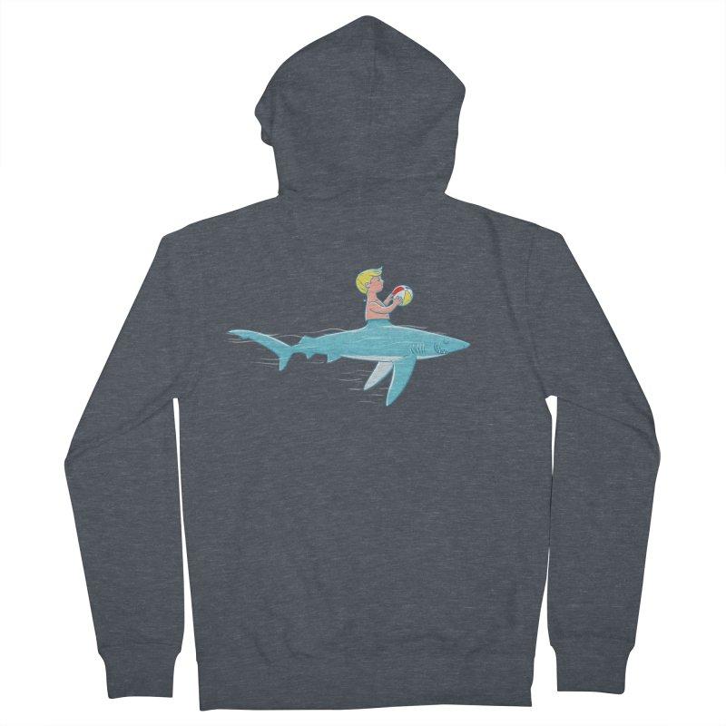 Shark Bait Men's Zip-Up Hoody by Victor Calahan