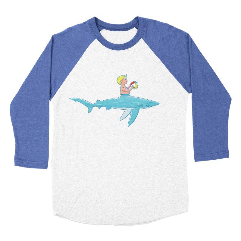 Shark Bait Men's Baseball Triblend T-Shirt by Victor Calahan