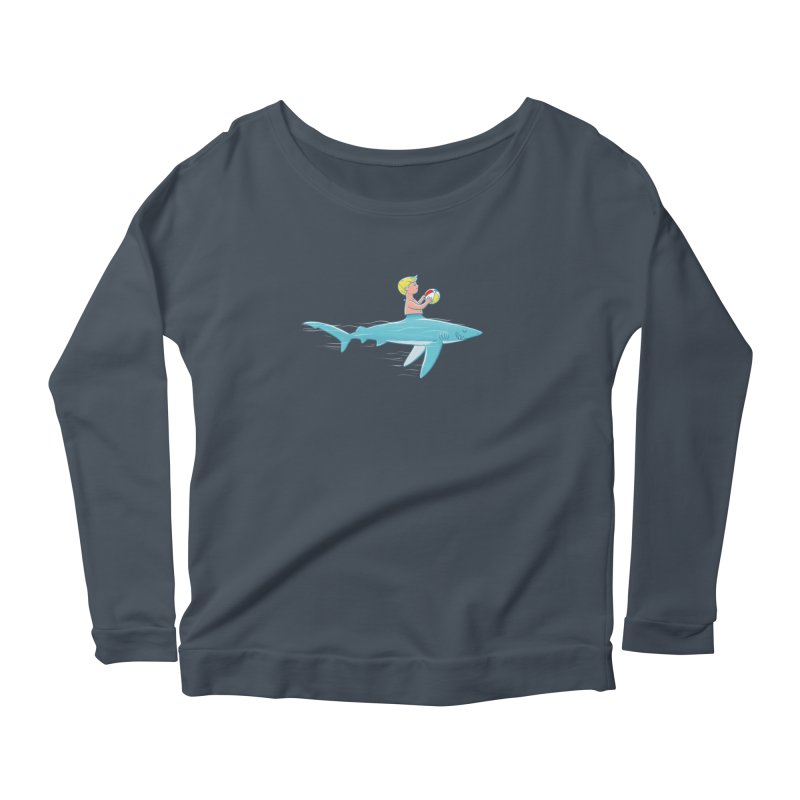 Shark Bait Women's Longsleeve Scoopneck  by Victor Calahan