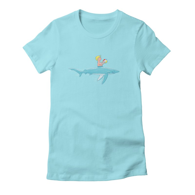 Shark Bait in Women's Fitted T-Shirt Cancun by Victor Calahan