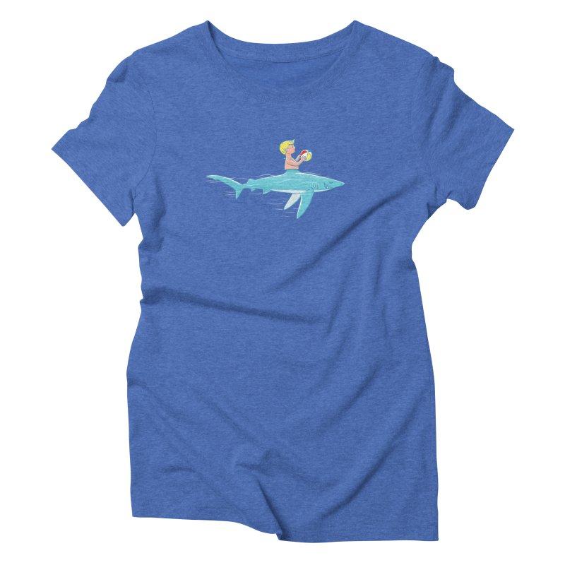 Shark Bait Women's Triblend T-Shirt by Victor Calahan