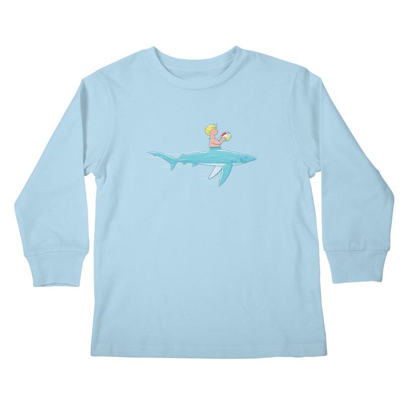 Shark Bait Kids Longsleeve T-Shirt by Victor Calahan
