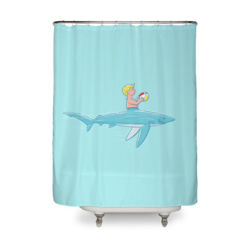 Shark Bait Home Shower Curtain by Victor Calahan