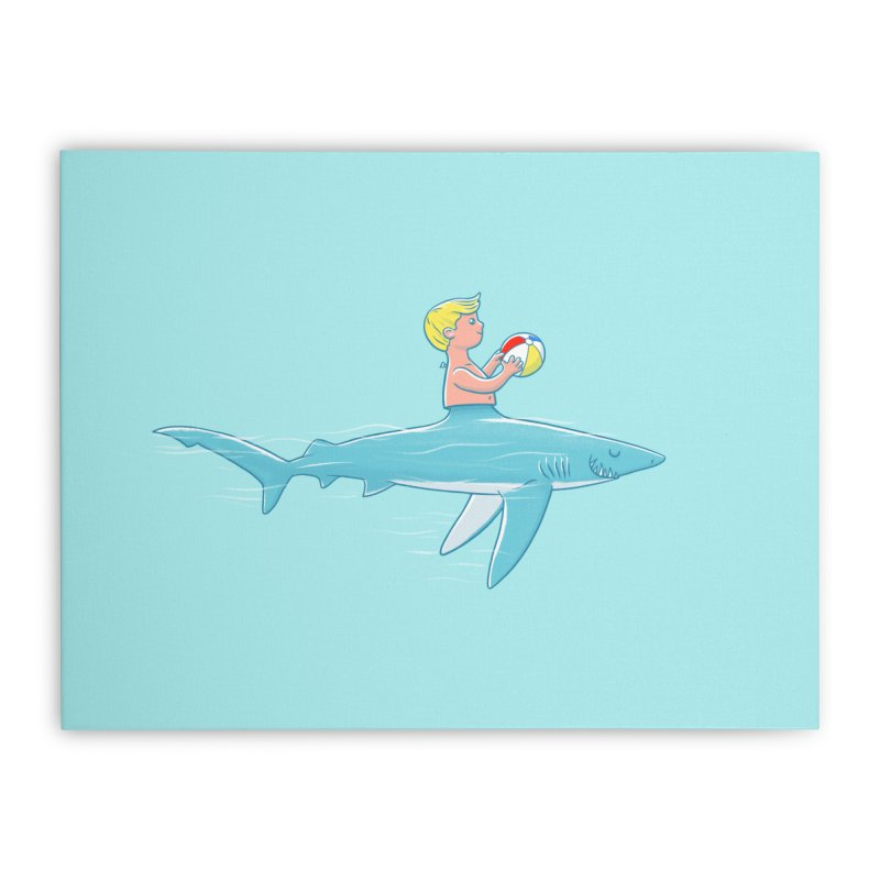 Shark Bait Home Stretched Canvas by Victor Calahan