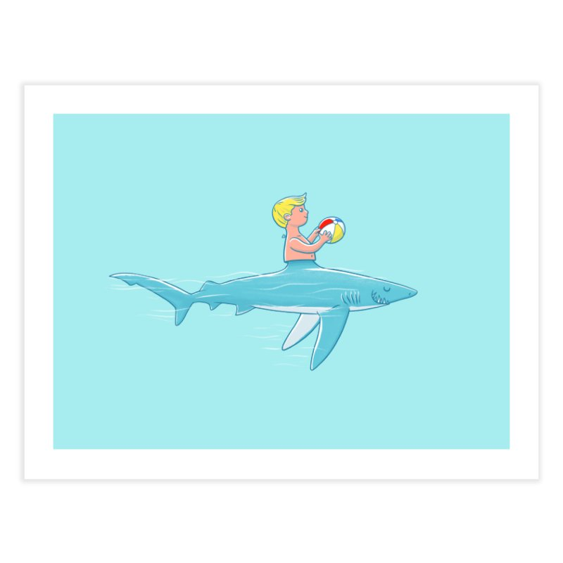 Shark Bait Home Fine Art Print by Victor Calahan