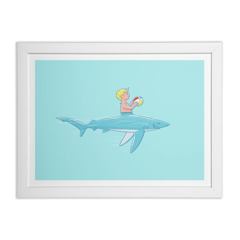 Shark Bait Home Framed Fine Art Print by Victor Calahan