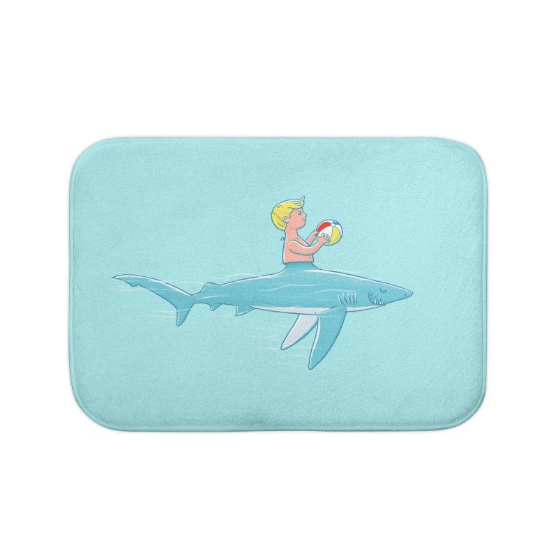 Shark Bait Home Bath Mat by Victor Calahan