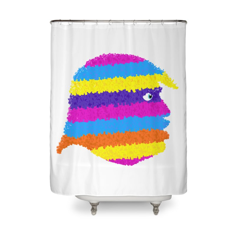 Trumpiñata Home Shower Curtain by Victor Calahan