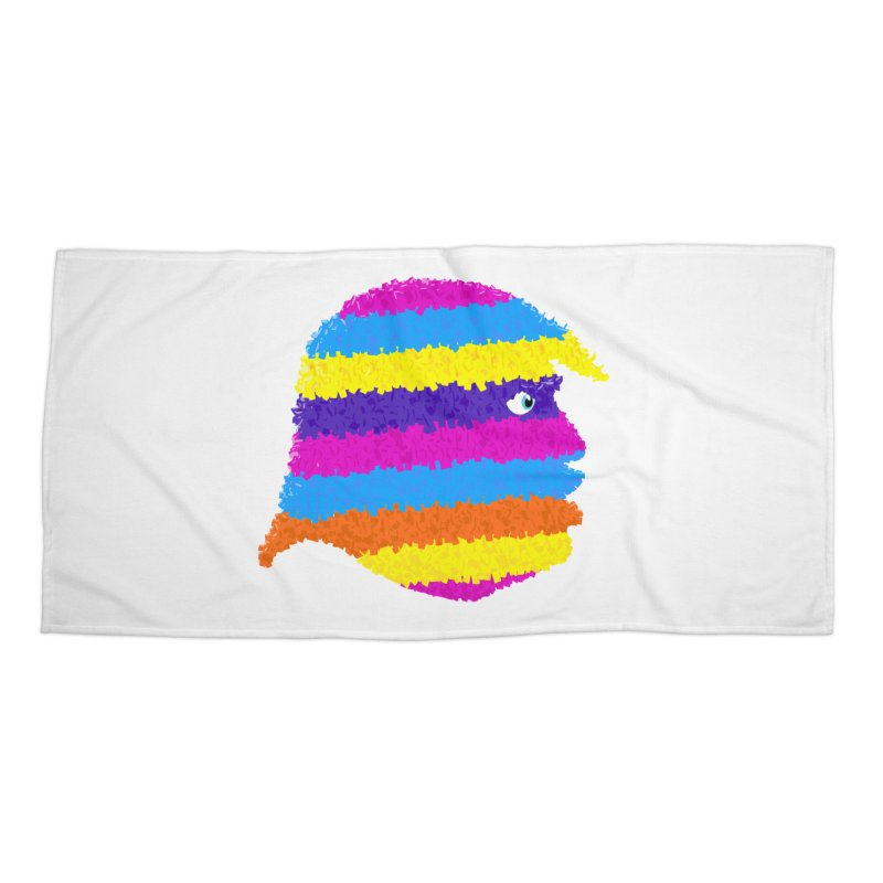 Trumpiñata Accessories Beach Towel by Victor Calahan