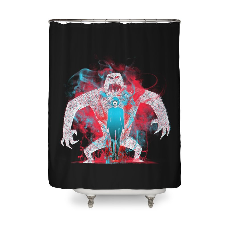 We are the Machine that Bleeds Home Shower Curtain by Victor Calahan