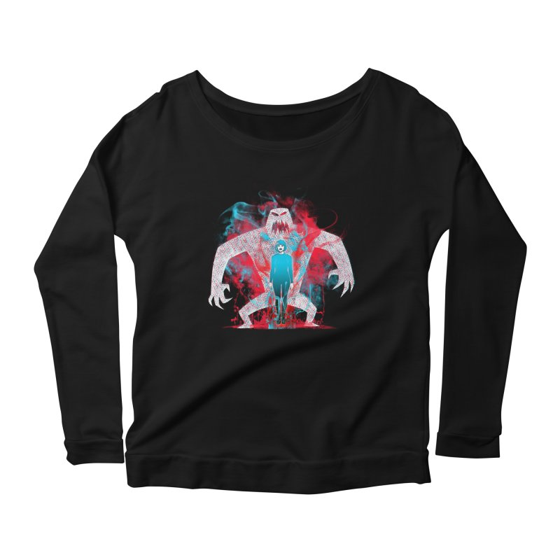 We are the Machine that Bleeds Women's Longsleeve Scoopneck  by Victor Calahan