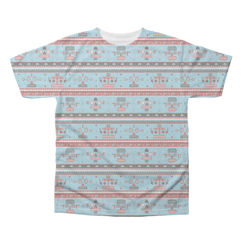 Navajo Bots Men's Triblend All Over Print by Victor Calahan