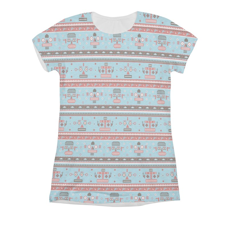 Navajo Bots Women's Triblend All Over Print by Victor Calahan